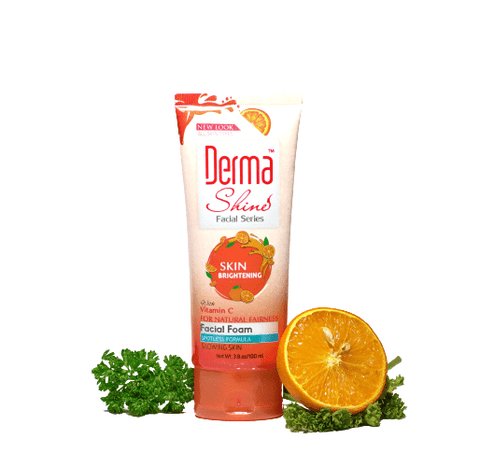 Derma Shine Skin Brightening Vitamin C Double Power Facial Foam