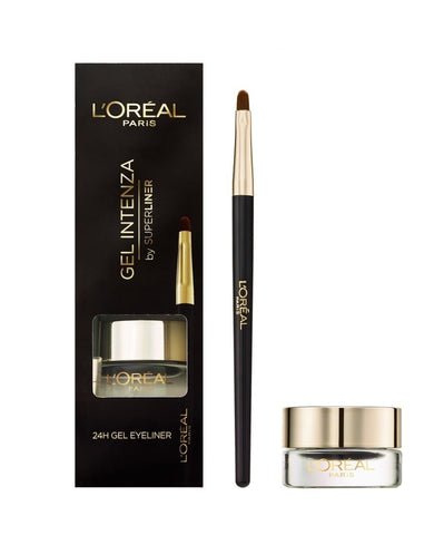 Loreal Gel Intenza 24 Hour Gel Liner with Brush (Pure Black) - Lipcara