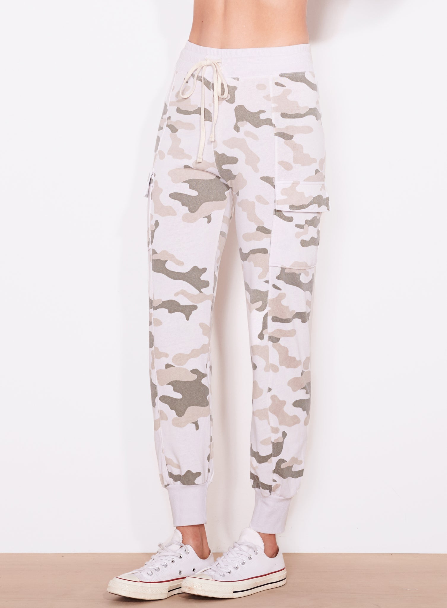 Camo Cargo Sweatpant, Cream