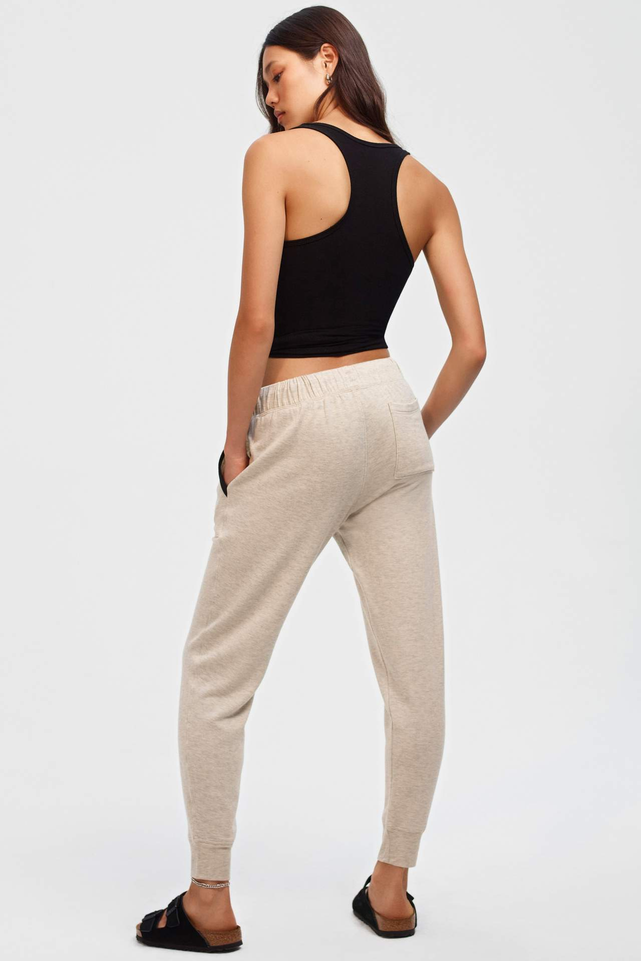 Marlon Fleece Sweatpant, Heather Oat