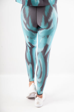 Ultracor Ultra High Knockout Camo Legging, POOL PATENT NERO