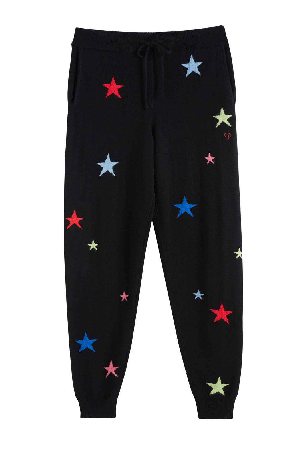 Star Cashmere Track Pants, BLACK/MULTI