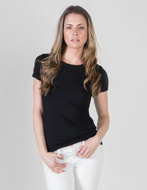 MAJESTIC SOFT TOUCH CREW NECK, BLACK