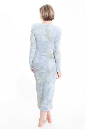 Long Sleeve Layering Dress, Sky Camo