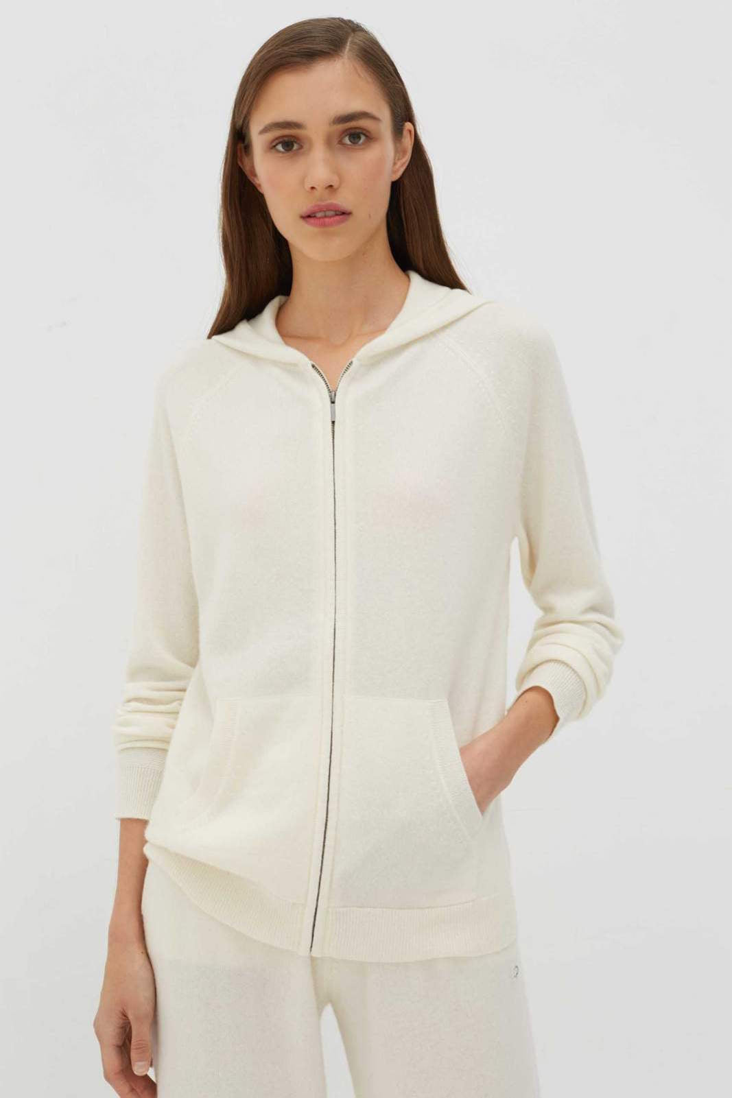 Chinti & Parker The Cashmere Hoodie, CREAM