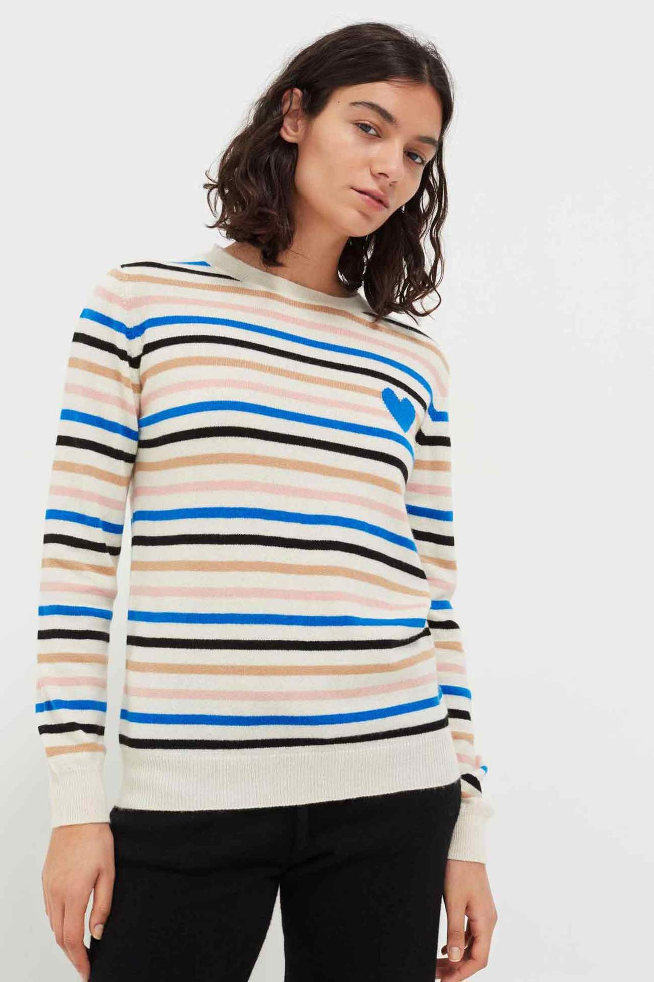 Heart Bretton Cashmere Sweater, Multi