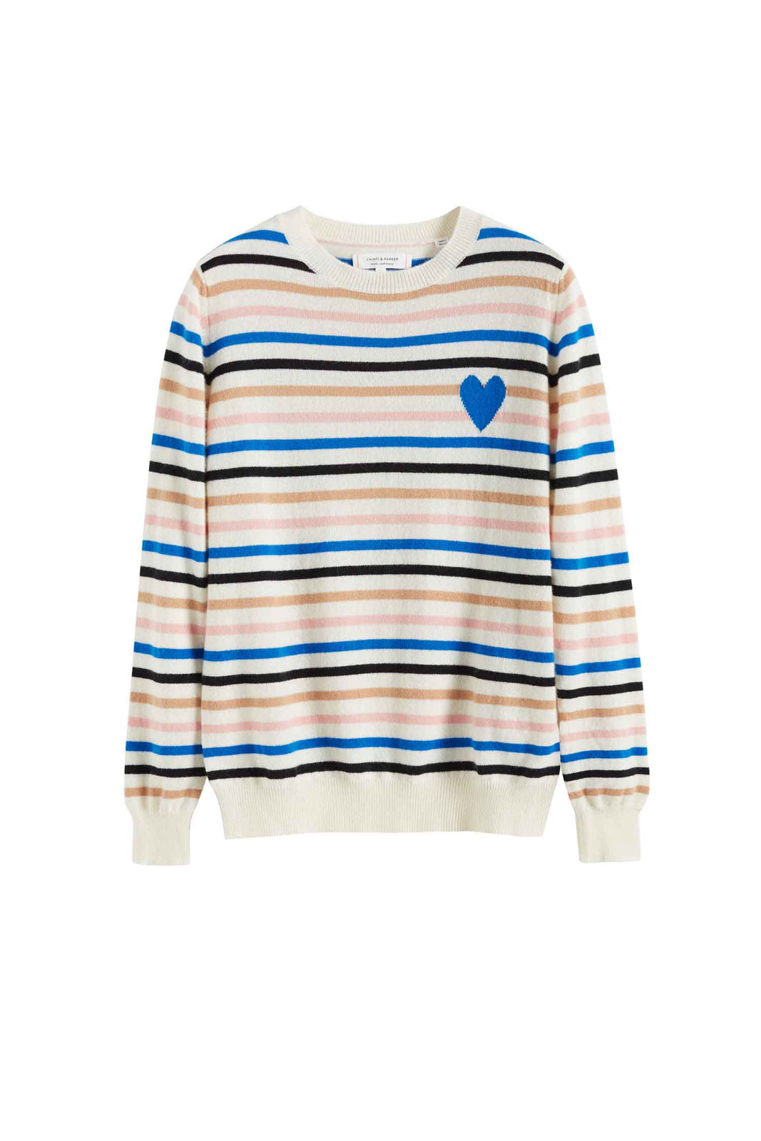 Heart Bretton Sweater, Cream/Multi