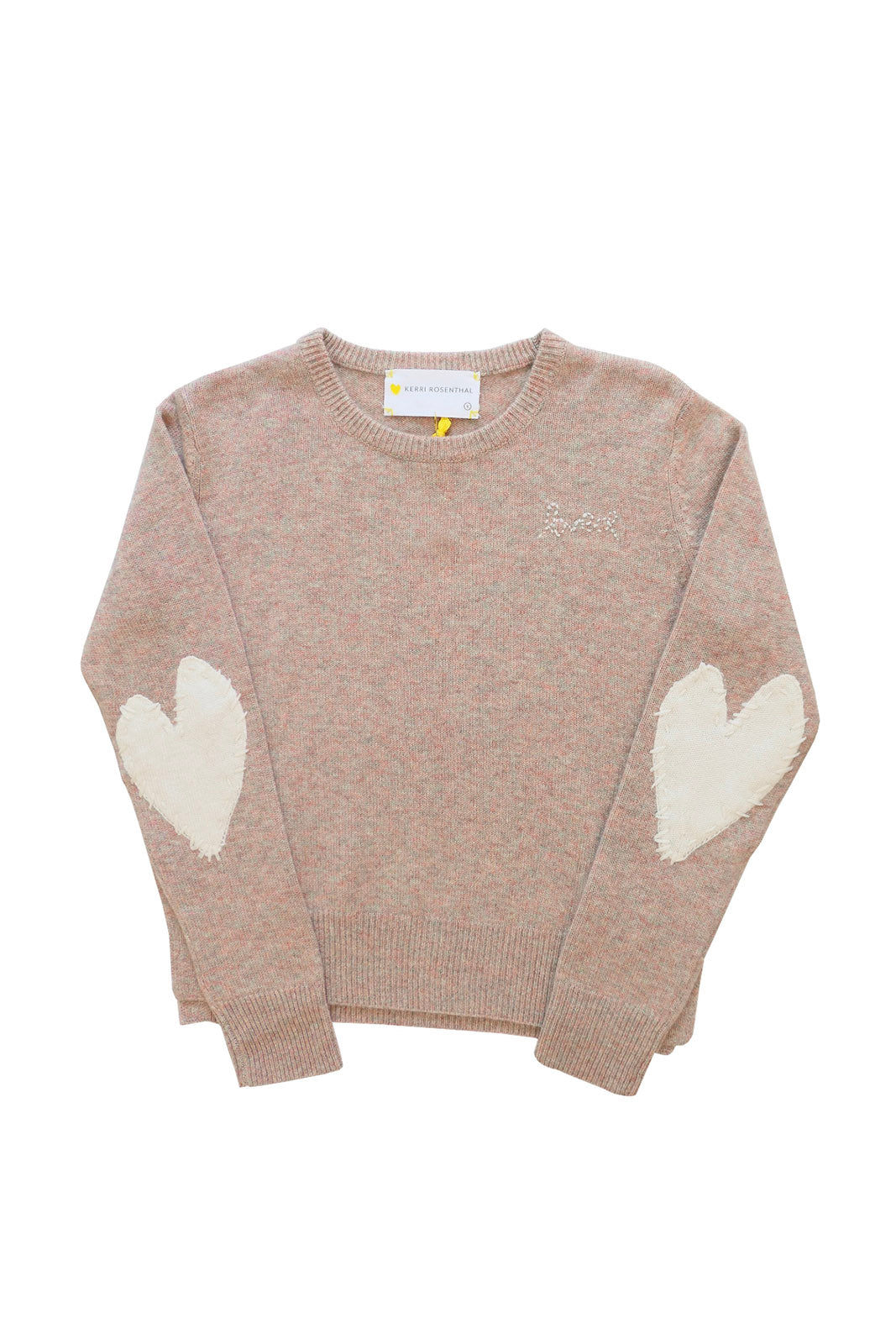 Patchwork Love Cashmere Sweater, Marled/Ivory