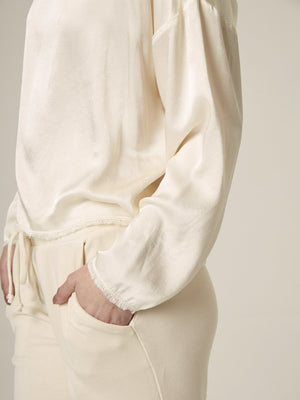 Raw Edge Pullover, Pearl