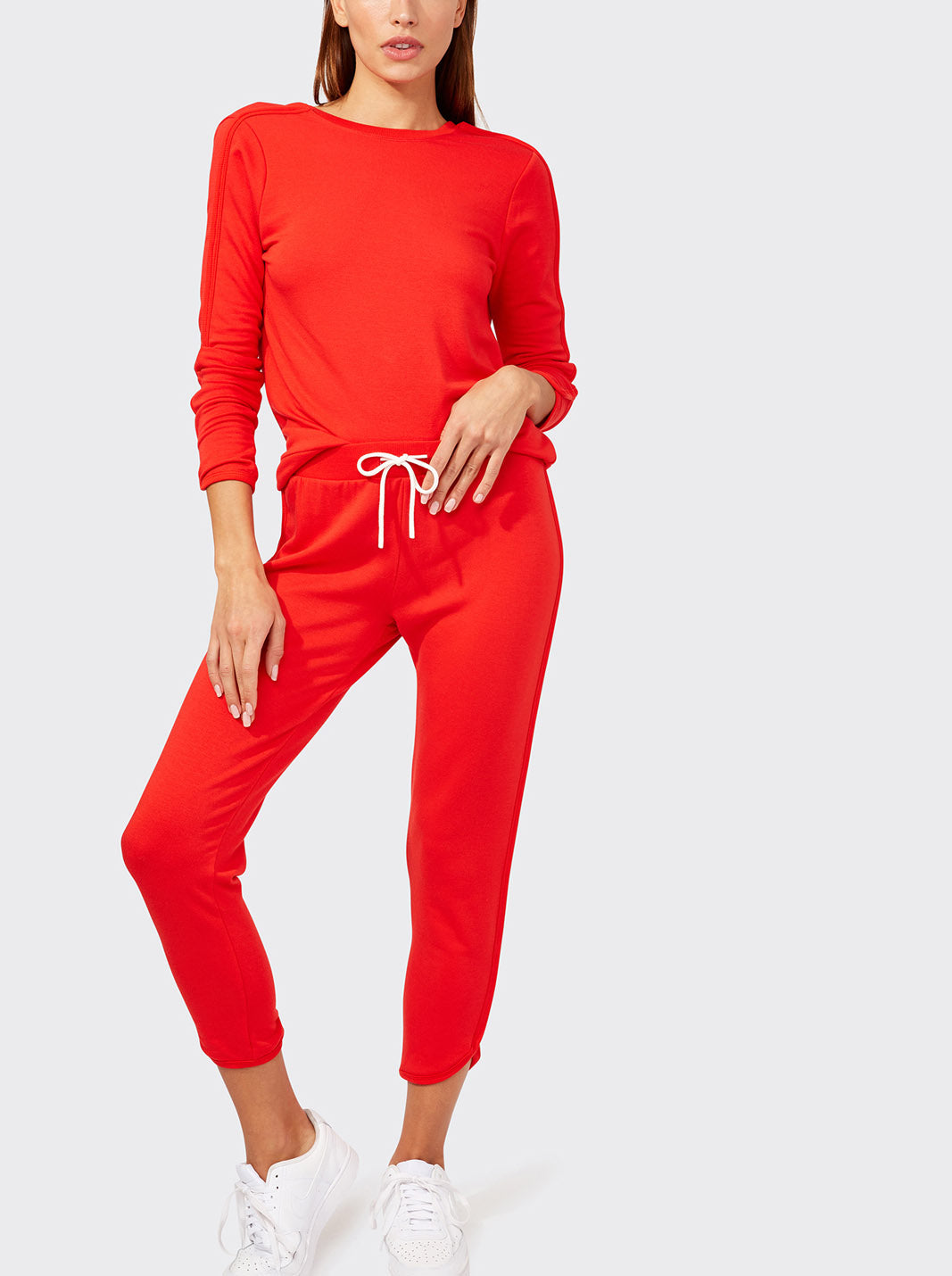 Reese Fleece Sweatpant, Red