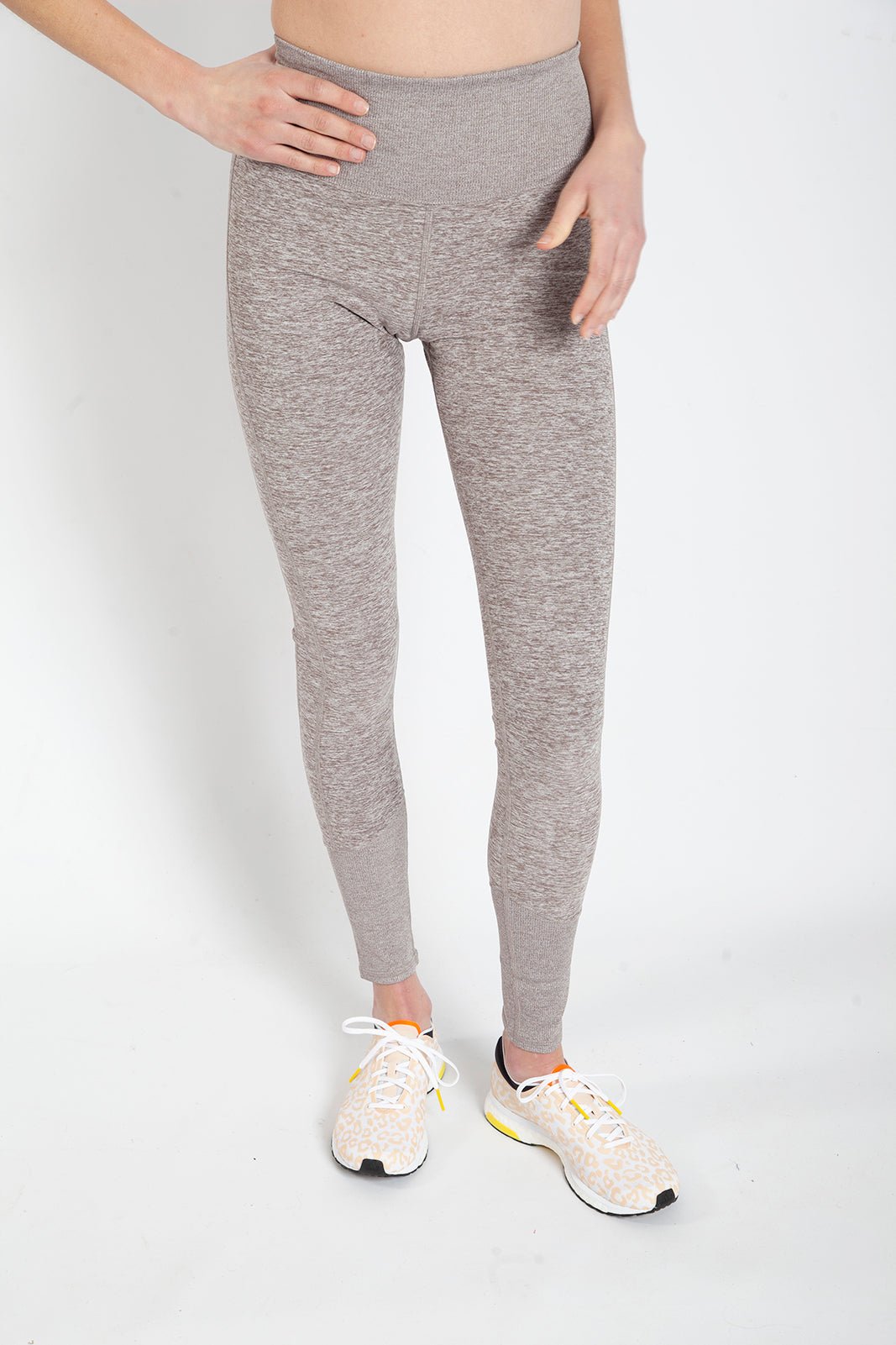 Alo High Waist Lounge Legging, Gravel Heather