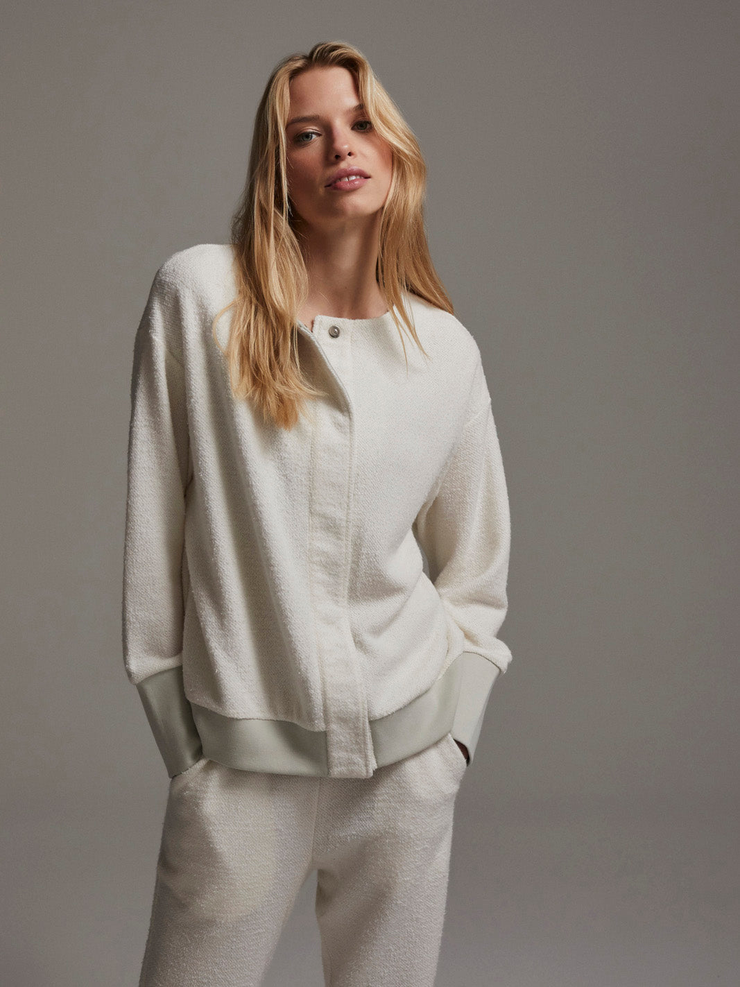 Margate Textured Sweat, Ivory
