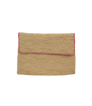 G. Viteri Scalloped Clutch Natural/Pink