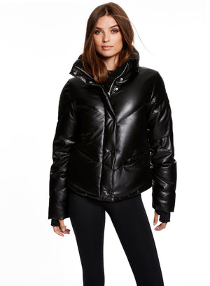 VEGAN LEATHER ATHLETE, BLACK