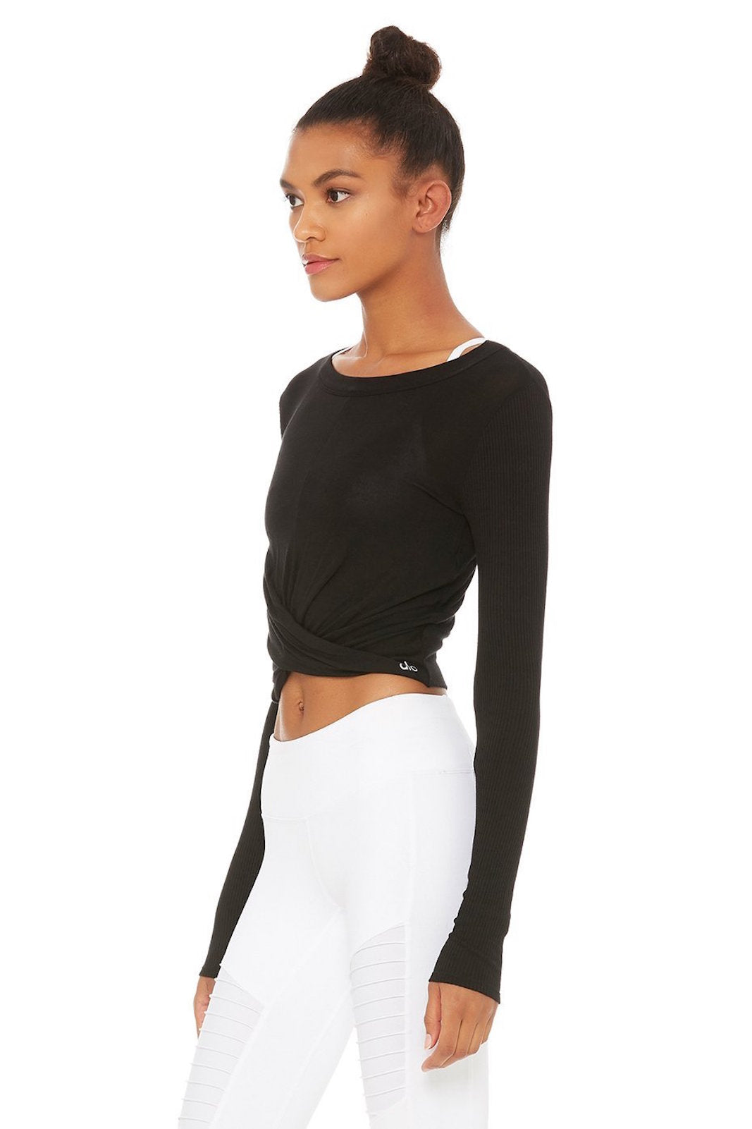 Alo Yoga Cover Long Sleeve Top, Black