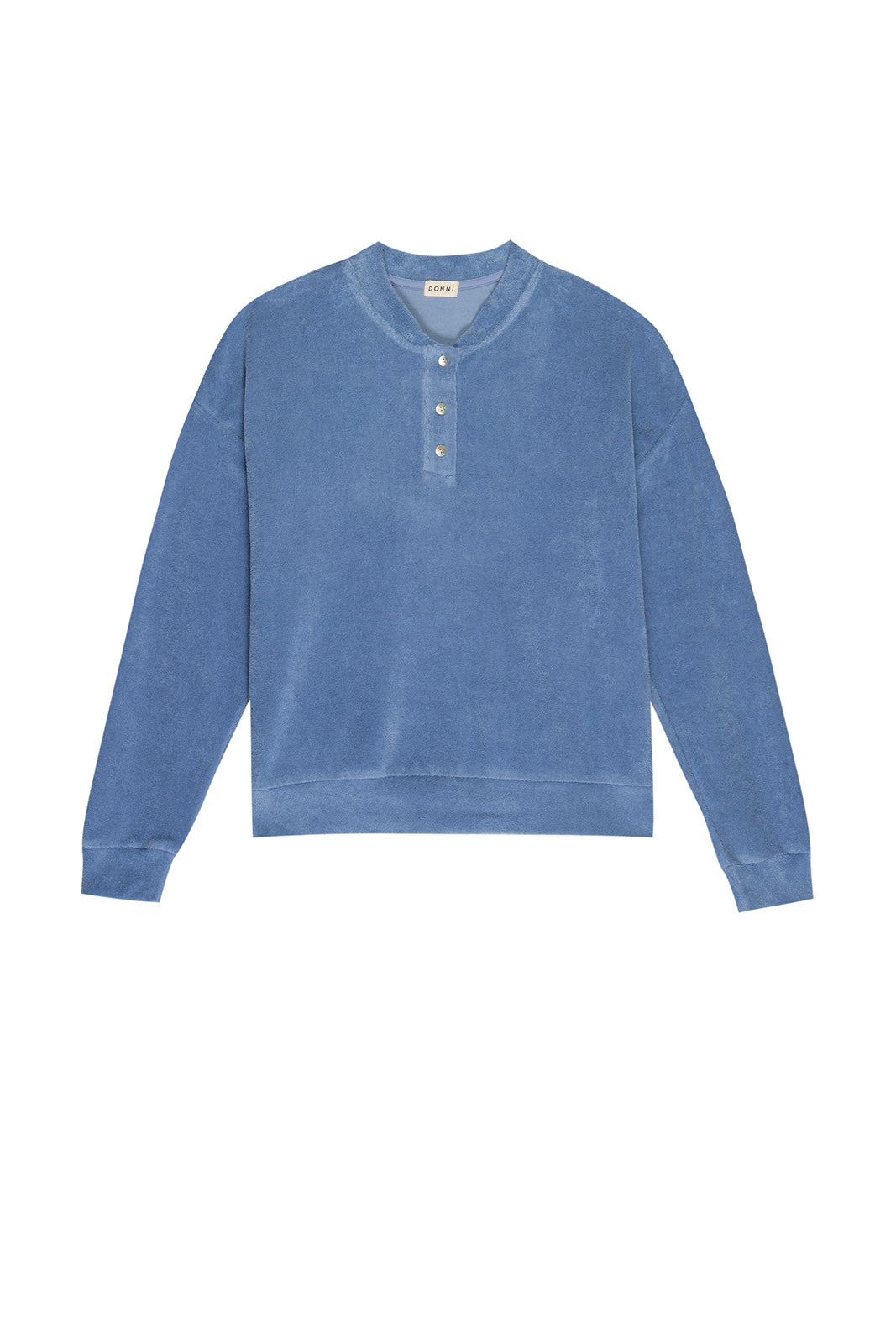 Terry Henley Sweatshirt, Denim