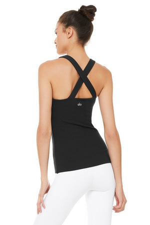 ALO ELEVATE TANK, black