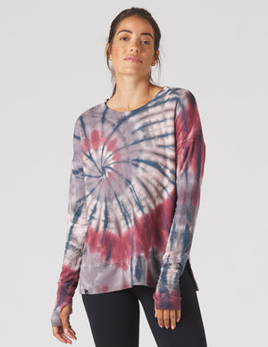 Lounge Long Sleeve, Berry Tie-Dye