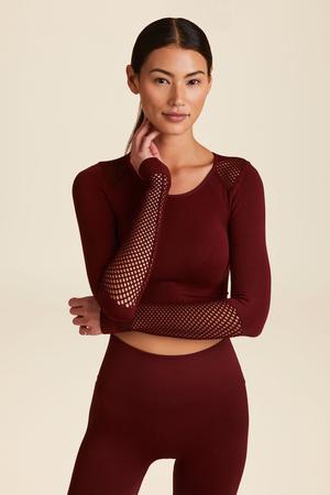 Seamless L/S Crop, Oxblood