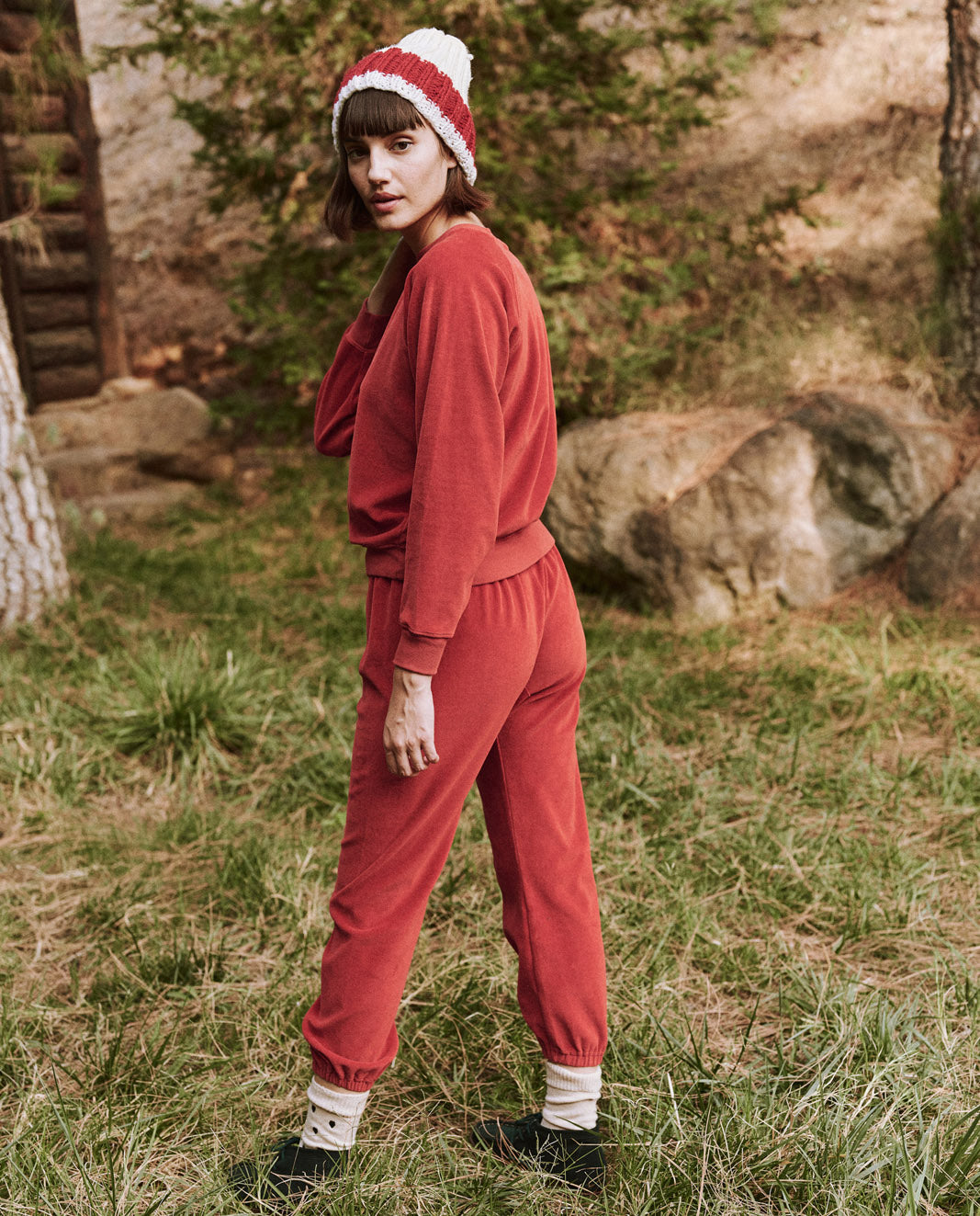The Velour Stadium Sweatpant, Holly