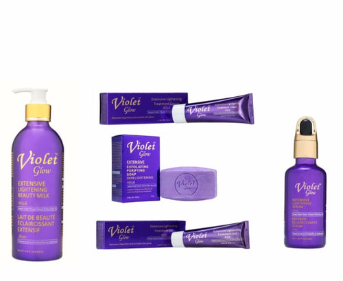 Violet Glow Extensive Lightening Beauty set
