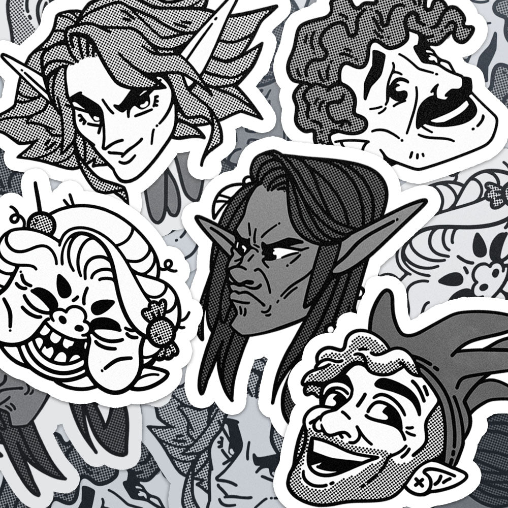 DnDnD Character Stickers
