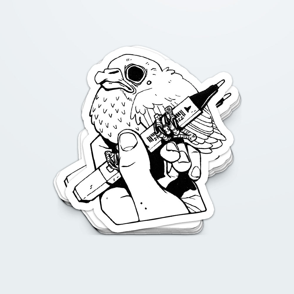 Fledgling Artist Sticker