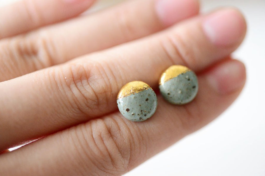 Speckled Stone Dipped Studs