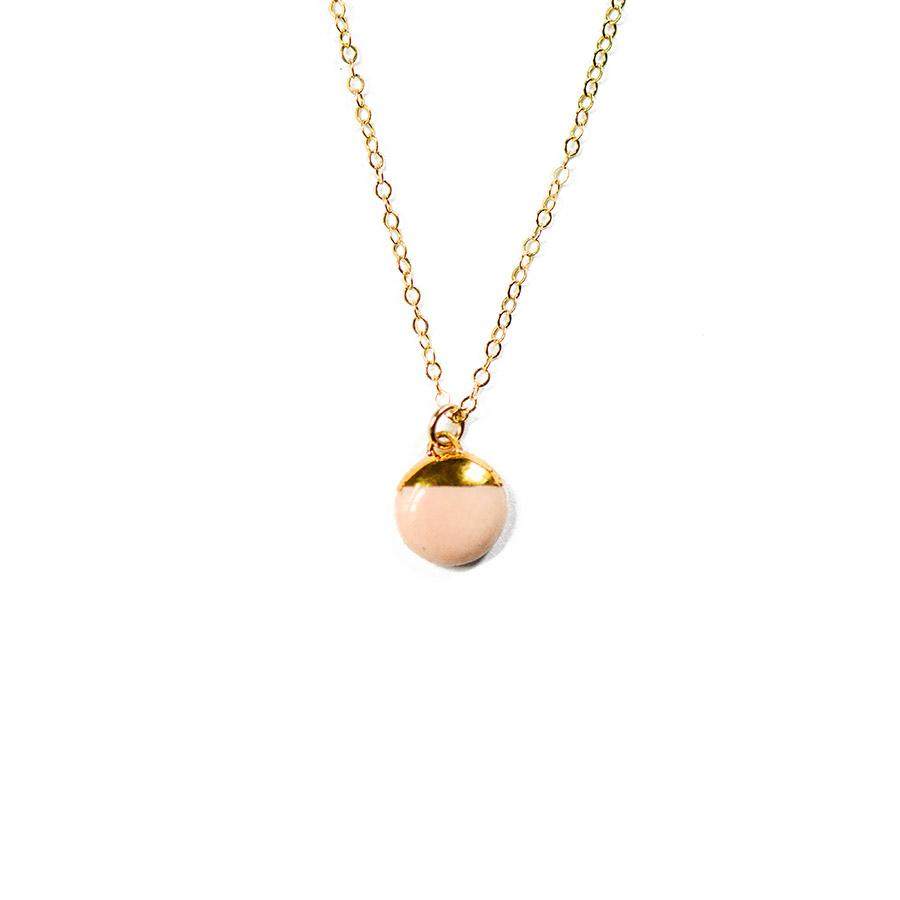 Rose Dipped Buoy Necklace