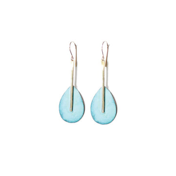 Patina Oar Dangle Earrings