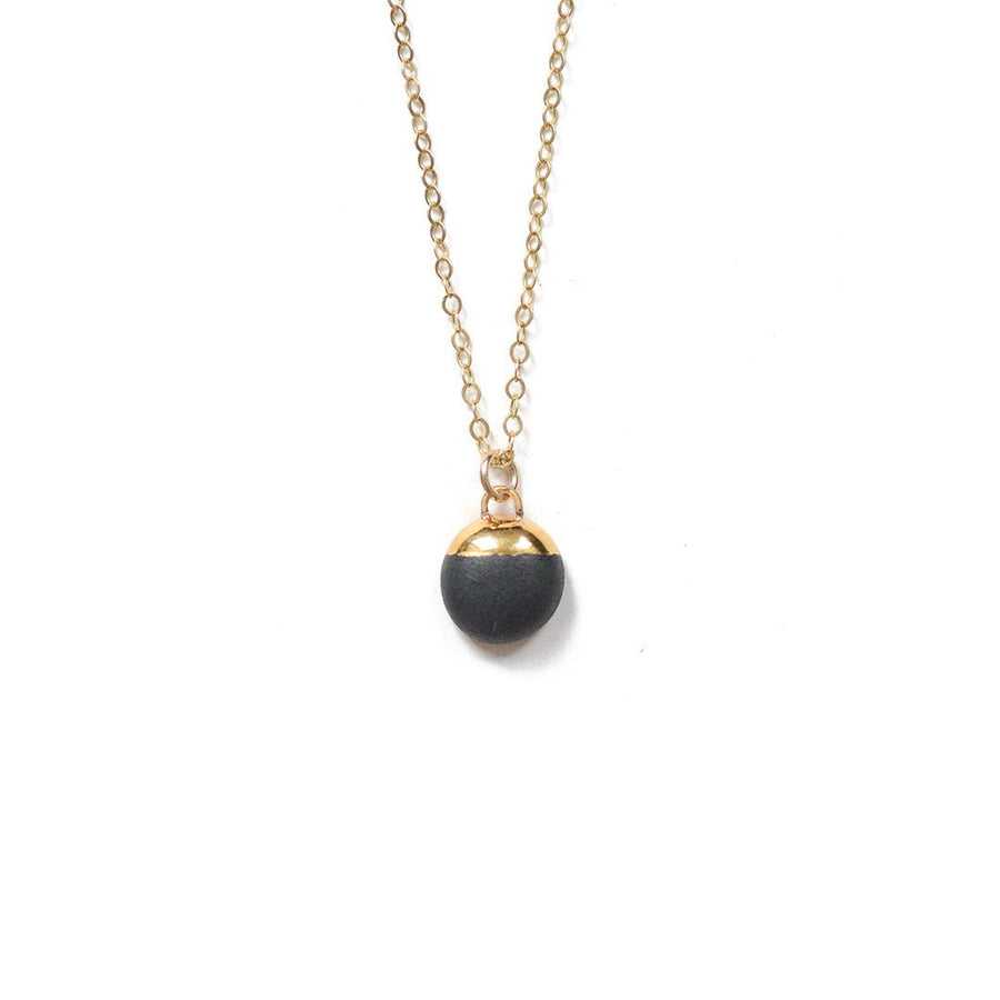 Black Dipped Buoy Necklace