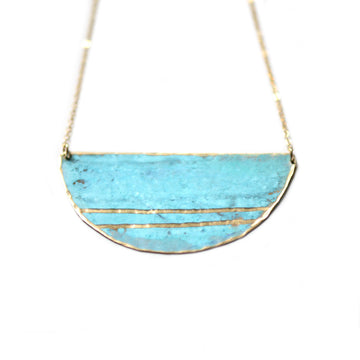 Patina Double Stripe Necklace