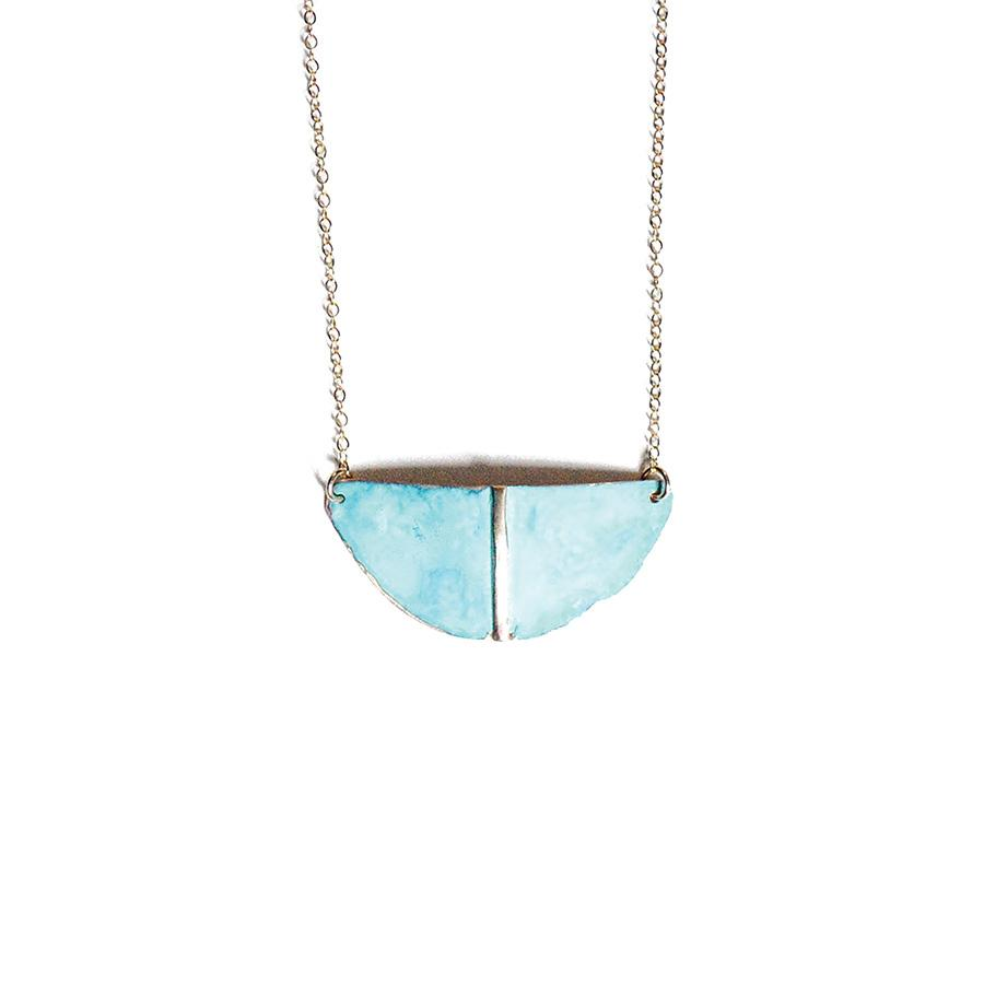 Patina Shield Necklace