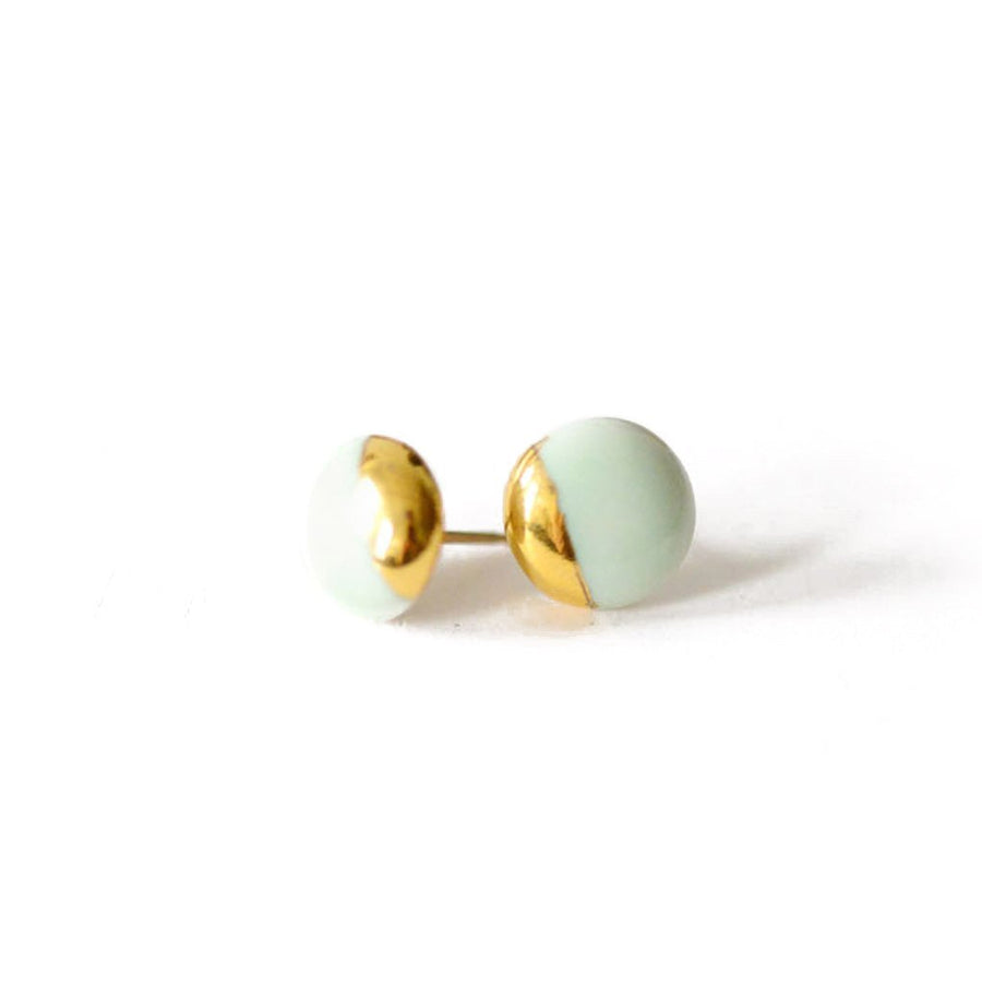 Mint Dipped Studs