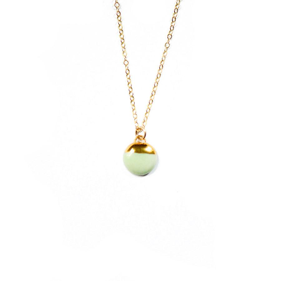 Mint Dipped Buoy Necklace
