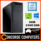 Intel Quad Core | 8GB | 240G SSD | Computer System Desktop Gaming PC Home Office