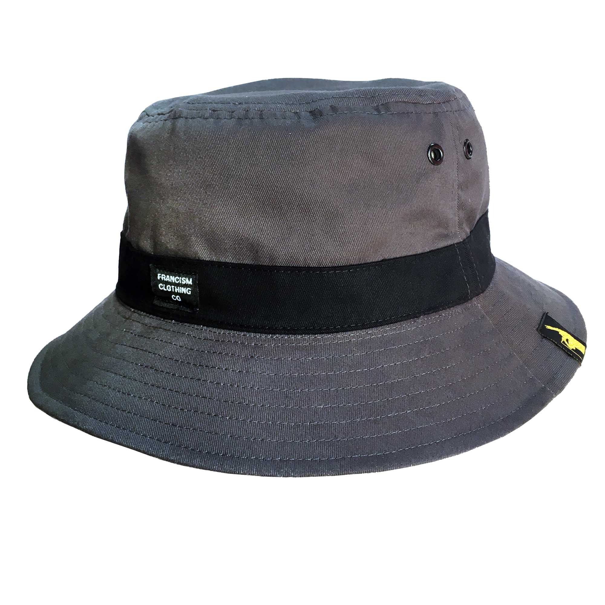 FrancisM Reversible Bucket Hat (Black Logo)