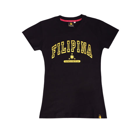 Women's Filipina Since Birth (Black/Gold)
