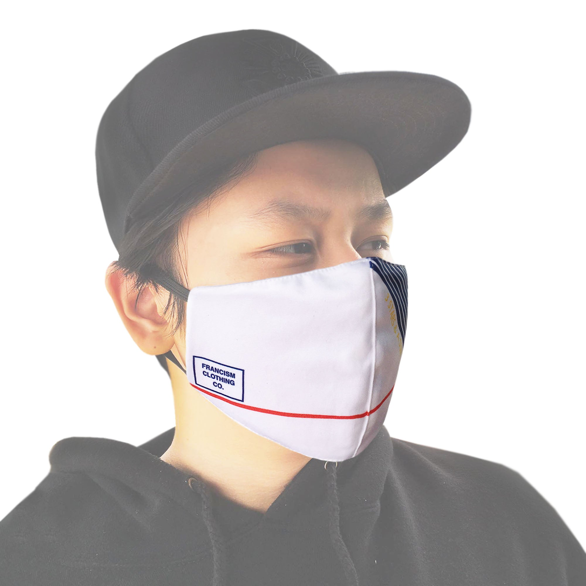FRANCISM FACE MASK LINEAR WHITE
