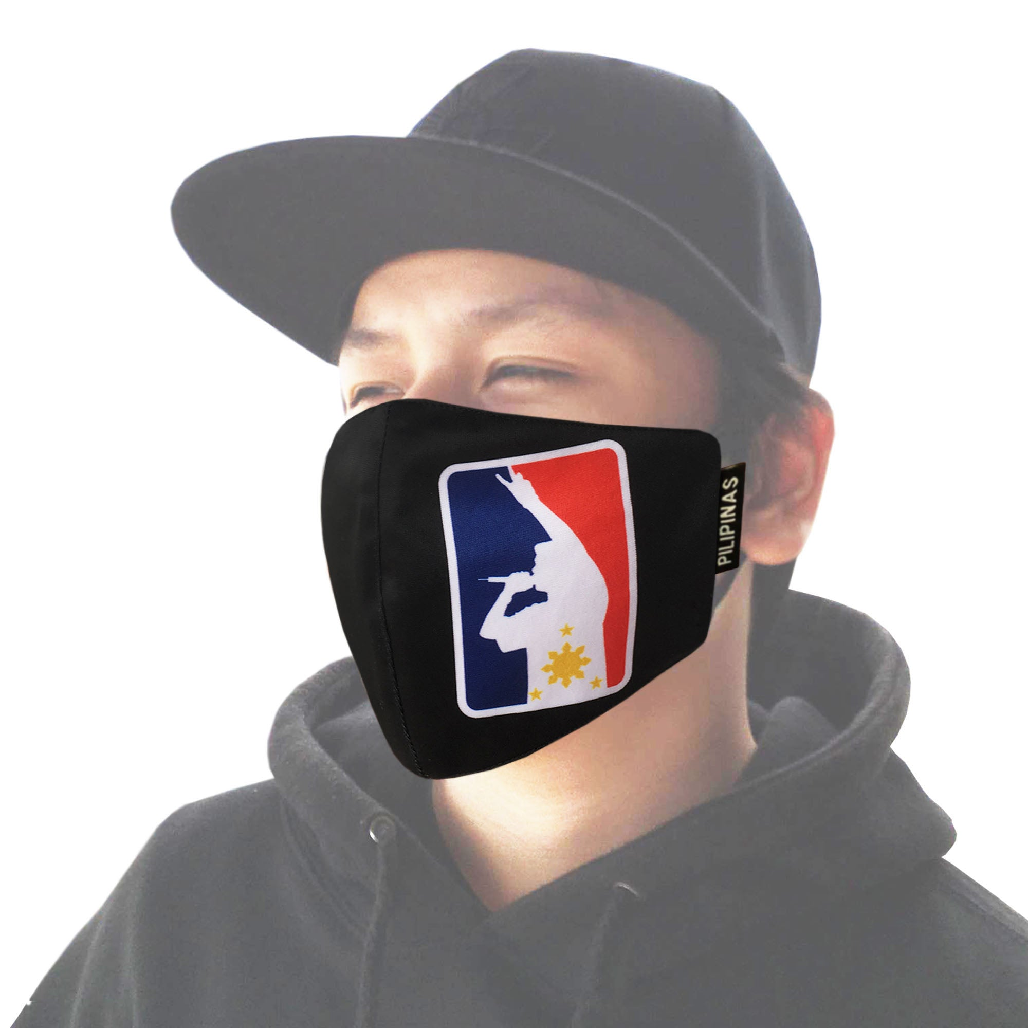 FRANCISM FACE MASK MIC FLAG BLACK
