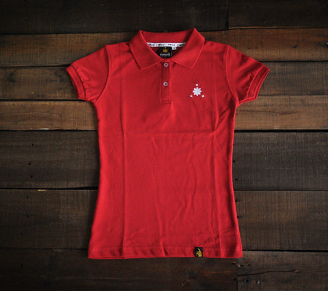 Women's Polo Shirt (Red/White Logo)
