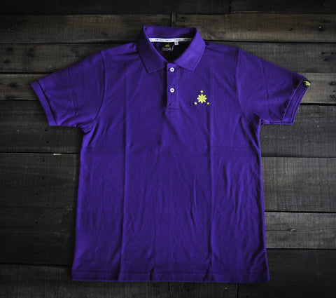 Women's Polo Shirt (Purple/Mint Blue Logo)