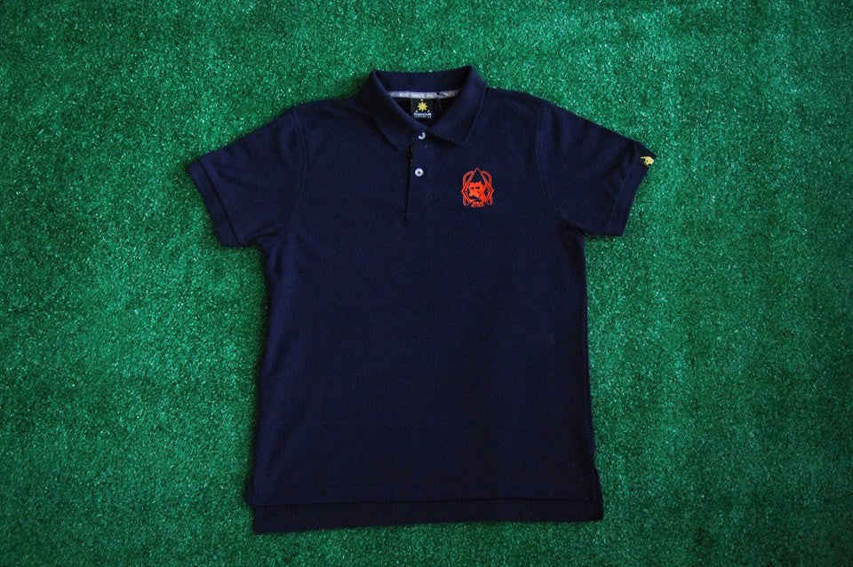 Men's Polo Shirt Camou (Navy Blue)