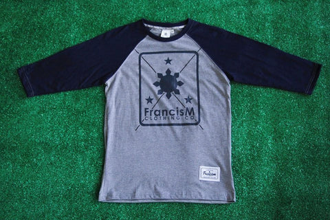 Men's Raglan Logo (Navy Blue/Acid Gray)