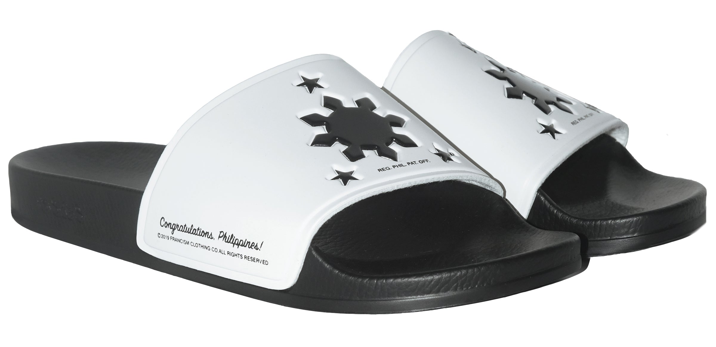CONGRATULATIONS PHILIPPINES POOL SLIDES - BLACK/WHITE