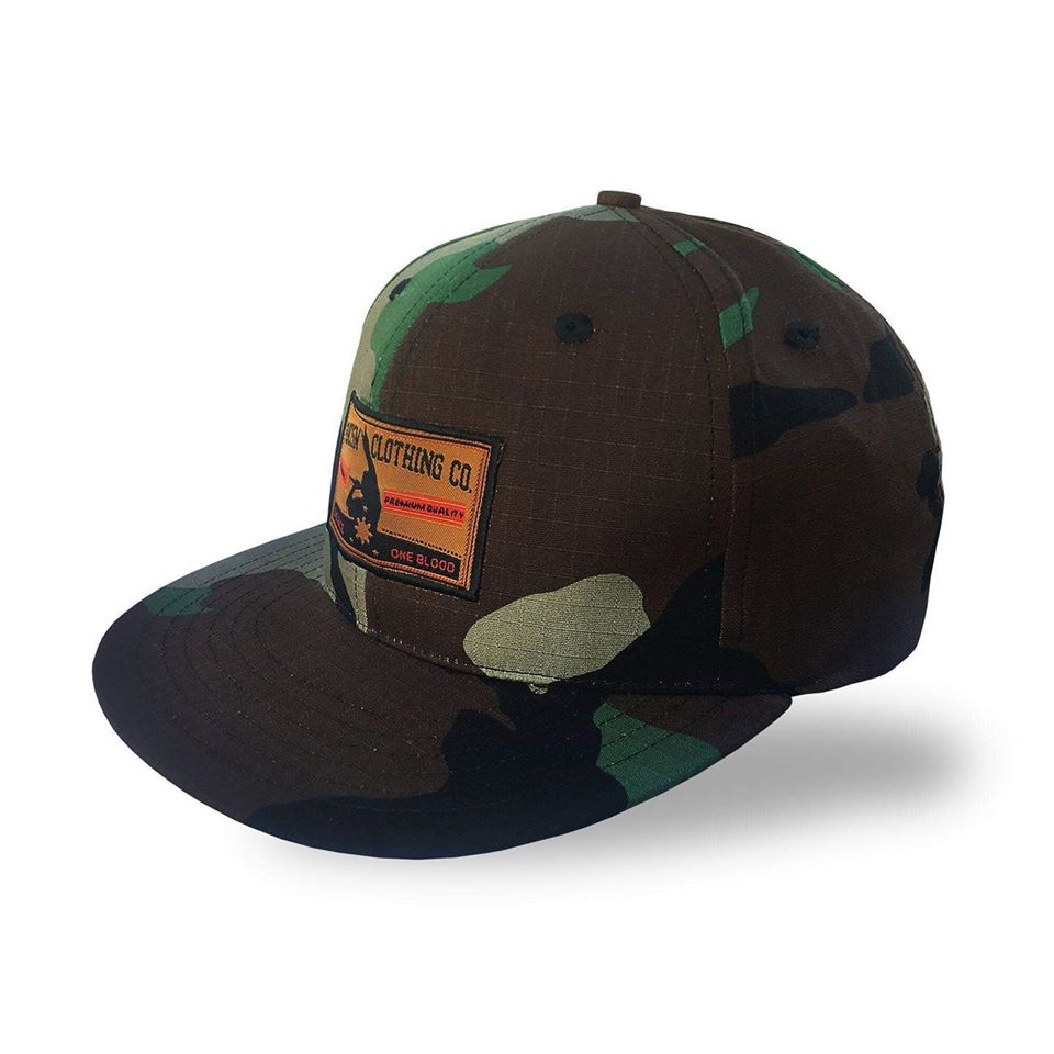 FrancisM Camou Snapback Cap (Tropical Camou)