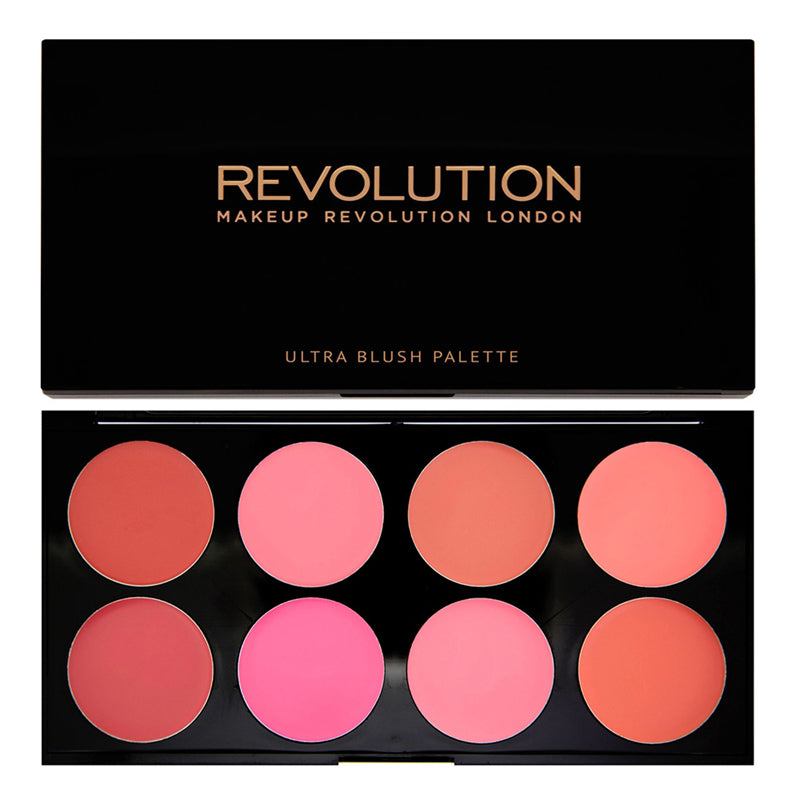 Paleta farduri cremoase obraz Makeup Revolution Blush Palette - All About Cream