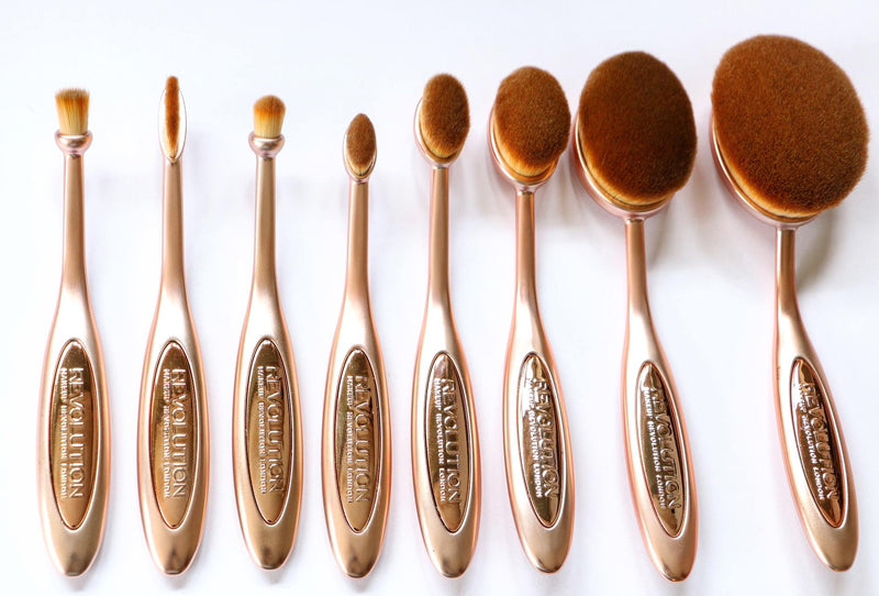 Set pensule Ovale Makeup Revolution Precision Brush Collection