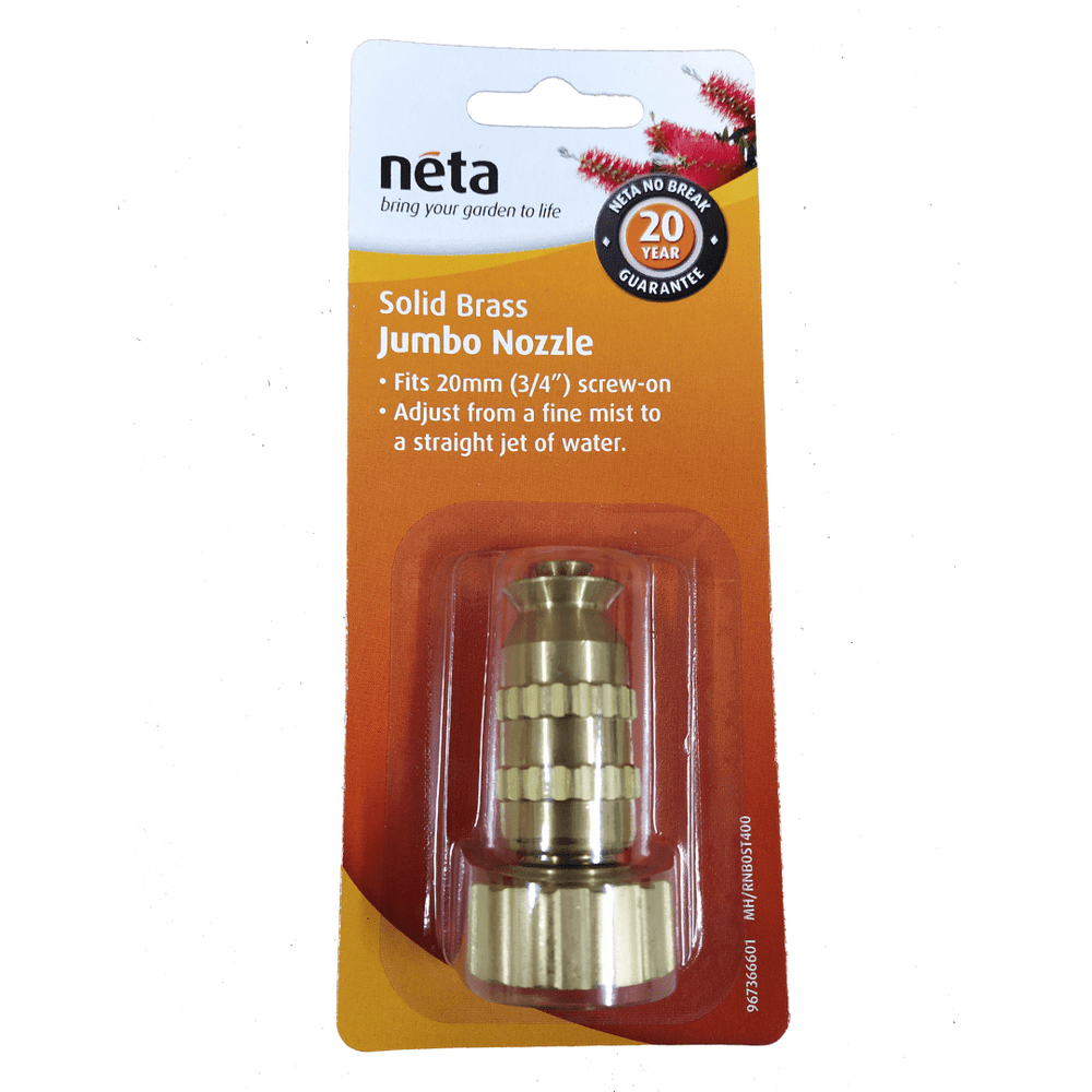Solid Brass Jumbo Nozzle 20mm