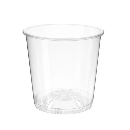 150mm Clear Squat Plastic Pot